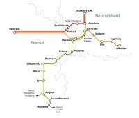 vysokorychlostní tratě Francie-Německo