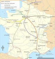 vysokorychlostní tratě Francie