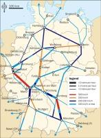 německé železniční tratě ICE
