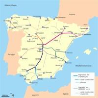 vysokorychlostní tratě Španělsko