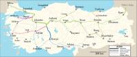 turecké vysokorychlostní tratě
