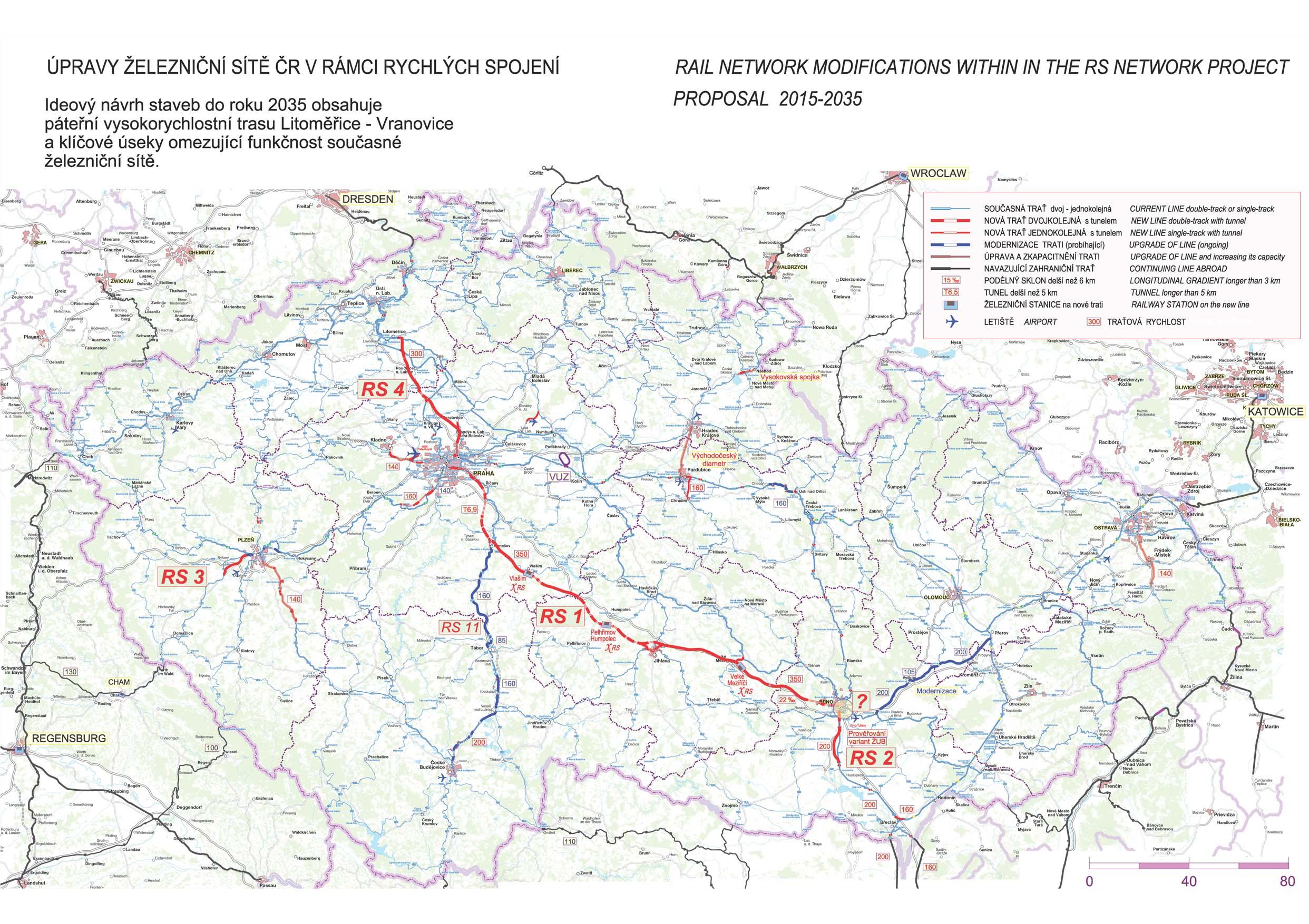 vysokorychlostní trať Praha-Brno
