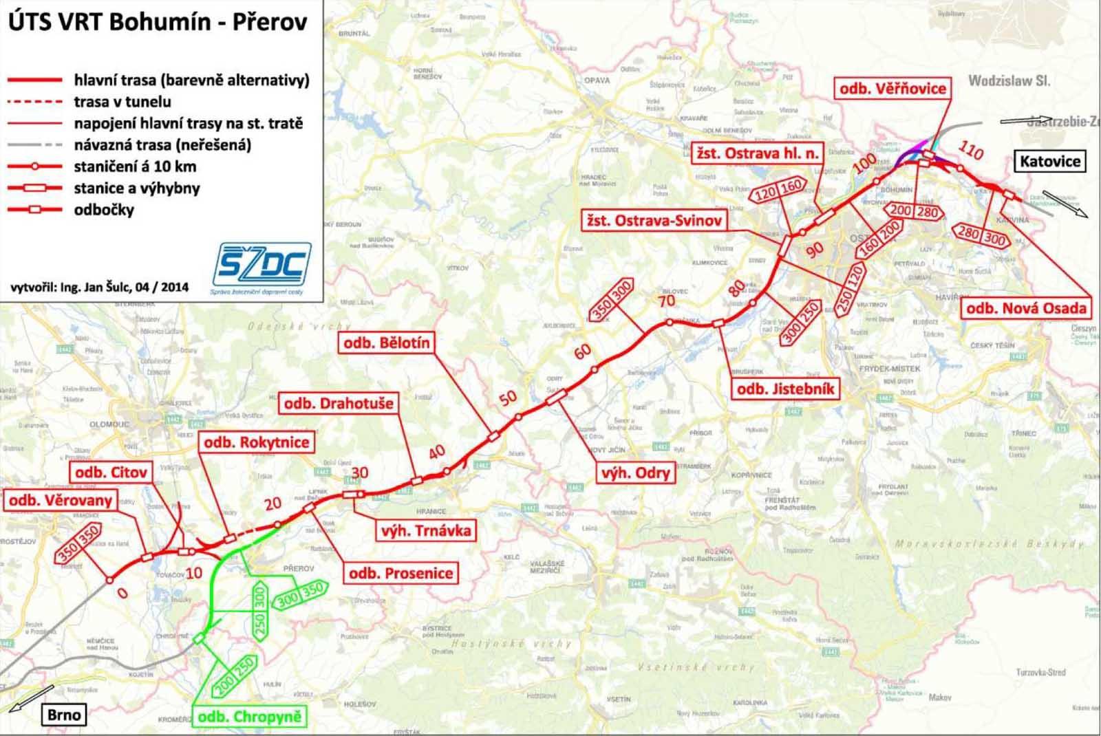 vysokorychlostní trať Brno - Ostrava