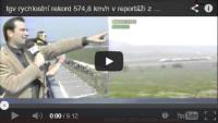 záběry tgv rychlostní rekord