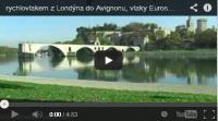 cesta rychlovlaky z Londýna do Avignonu