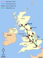 britské železniční trasy