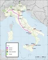 vysokorychlostní tratě Itálie