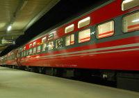 noční vlak Norsko