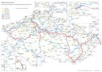 železniční mapa ČR rychlosti