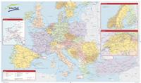 vlaková mapa Evropy Interrail