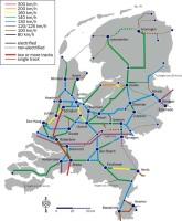 železniční mapa Nizozemí