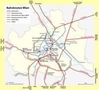 želzniční mapa Vídně