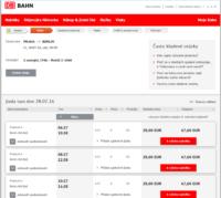 nákup vlakové jízdenky do Německa