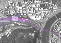 umístění nádraží VRT v Ústí n. Labem