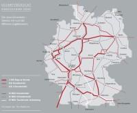 síť ICE a IC vlaků