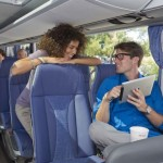 sedadla v autobuse DB
