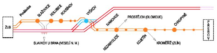 modernizace trať Brno-Prerov varianta N1