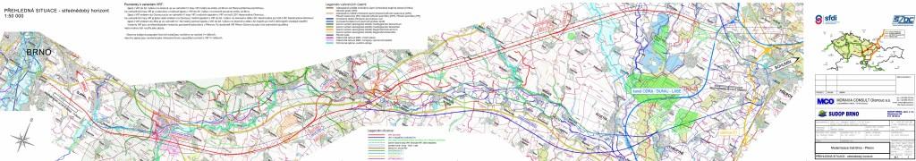 varianty modernizace trati Brno - Přerov