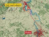 varianty trati z Ústí n. Labem
