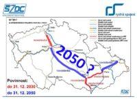 rychlotrať Praha - Brno do 2050
